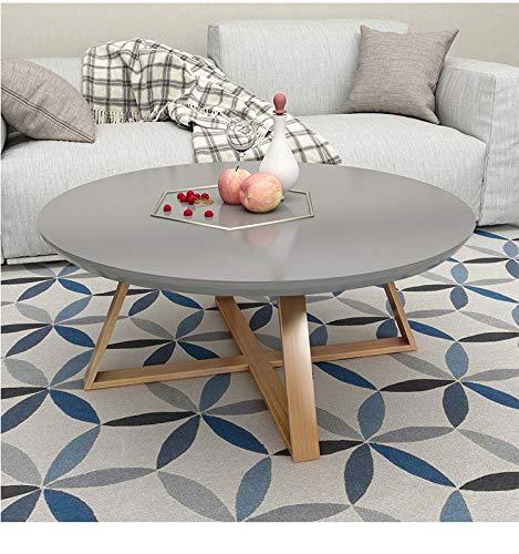 NA theetafel, ronde slaapkamer kleine salontafel, eenvoudige woonkamer creatieve massief hout bijzettafel, mini ronde klein bureau