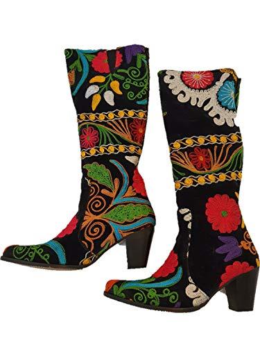 Boots Handgefertigt, bestickt., - ZARA - Größe: 39 EU