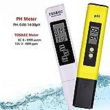 Medidor De PH Probador Digital De Calidad del Agua TDS PH EC Temperatura 4 En 1 Set con Alta Precisión Y Pantalla LCD para El Agua Potable del Acuario De La Piscina