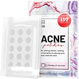 Acne Patches 132 Dots 3 Sizes 8 mm, 10 mm, 12 mm - Hydrocolloid Pimple Patches Blemish Protective Cover Absorbing Spot Treatment Hydrocolloid Dressing Zit Sticker Healing Dot