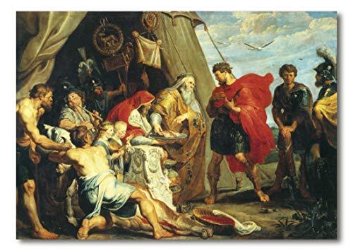 Cuadro Decoratt: Decio Mus consulta el oraculo - Rubens 106x75cm. Cuadro de impresión directa.