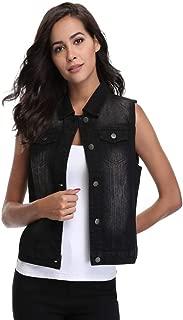 Best black denim jacket no sleeves Reviews
