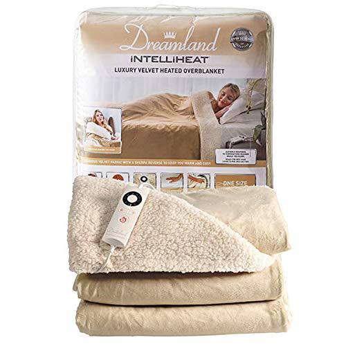 Dreamland 16327 Intelliheat verwarmde sprei luxe elektrische deken, champagne