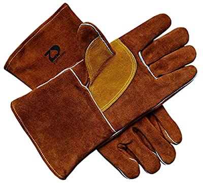 ZaoProteks ZP17 Cowhide Leather Heat Resistant Welding Gloves,Work Gloves - Large ---For Welding / Gardening / Camping / Fireplace / Hearth / Stove / Grill / Barbecue and so on