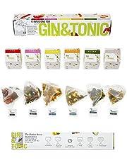 Gin & Tonic Infusion Flavour Botanicals Bags - Nanopack 6 smaken om je Gin te verfijnen. 100% natuurlijke specerijen, kruiden en bloemen [1 verpakking]