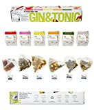 Gin And Tonic kit- 6 Different Flavored Gin Botanicals Herbs Infusions Bags- Cocktail Infusion Kit - Gin Gift Set For Men And Women