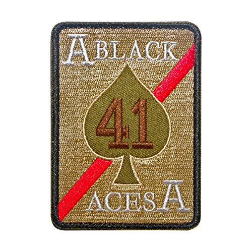 Cobra Tactical Solutions Strike Fighter Squadron 41 (VFA-41) Black Aces United States Navy Green Embroidered Patch with Hook & Loop Airsoft
