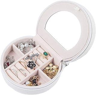 صندوق مجوهرات صغير من Wyenliz ، حقيبة صغيرة محمولة لتنظيم السفر أقراط حامل خواتم قلادة إكسسوارات صناديق تخزين