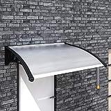 Tidyard Marquesina para Puertas Ventanas Toldo de Puerta Toldo Cubierta de Policarbonato para Zonas Residenciales y Comerciales Hojas Transparentes 150x100cm