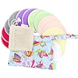 Bamboo Nursing Pads (14 Pack)+Laundry Bag & Travel Bag,2 Sizes:3.9/4.7inch Option - Washable & Reusable Nursing Pads(Passion, Large, Daytime Use)