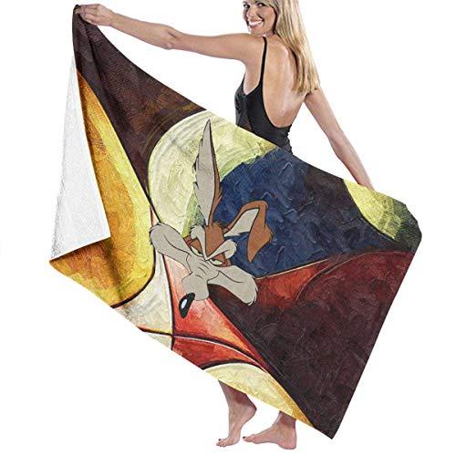 Anjoy Looney Tunes Grundriss Badetuch Soft Absorbent Hochwertige Strandtücher (80 x 130 cm)