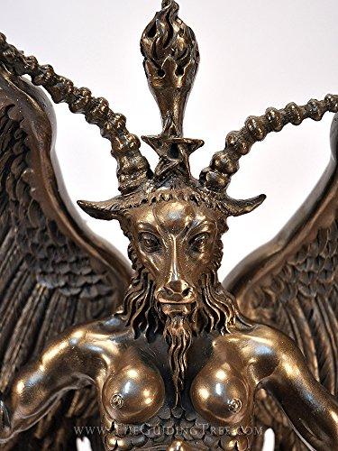 Baphomet gehörnten Goat Gott Statue–38,1cm–kalt gegossen Bronze von Maxine Miller