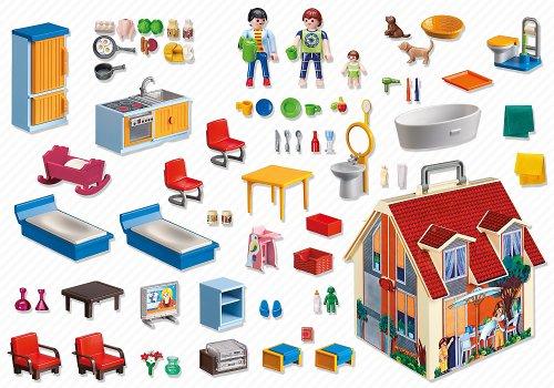 Maison Transportable Playmobil - 10 - Jeu de Construction