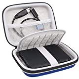Lacdo Hard Drive Case for Seagate Portable Expansion Seagate One Touch Seagate Backup Plus Slim Seagate Game Drive Portable External Hard Drive 1TB 2TB 3TB 4TB 5TB USB 3.0 2.5 Inch Travel Bag, Blue