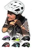 SkullCap Casco Bicicleta Carretera, Casco Bici Adulto Carretera, Bicicleta Hombres y Mujeres, tamaño L (59-61 cm), Color: Blanco