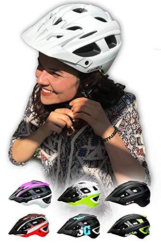 Skullcap® Fahrradhelm & MTB Helm + Visier für Herren & Damen (skyTRAIL, L (59-61 cm))