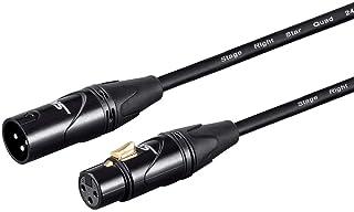 Monoprice 135314 Starquad Xlr Microphone Cable - 1.5 Feet - Black | Xlr-M To Xlr-F, 24Awg, Optimized For Analog Audio - Go...