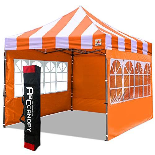 ABCCANOPY Carpa plegable de 3 x 3 m, totalmente resistente al agua, con 4 paredes y bolsa de mano (naranja)