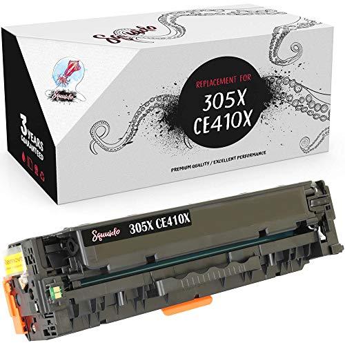 Squuido Cartucho de tóner Negro CE410X 305X Compatible para HP Laserjet Pro 300 MFP M375nw Pro 400 M451dn M451dw M451nw M475dn M475dw | Alto Rendimiento 4000 páginas
