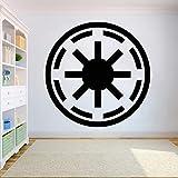 Ajcwhml Adhesivo de Pared Personalizado The Force Calcomanía Jedi Master Calcomanías 3D Look Calcomanía Personalizada Costum Calcomanías 3D 54x54cm