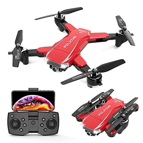 Drone GPS con videocamera 4K 5G FPV Live Video per principianti, quadricottero RC pieghevole con ritorno automatico a casa, seguimi, doppia fotocamera, include custodia per il trasporto, per adulti