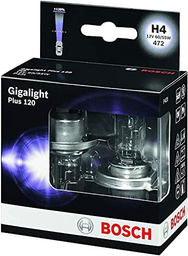 Bosch H4 Plus 120 Gigalight Lámparas para faros - 12 V 60 55 W P43t - Lámparas x2
