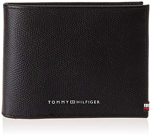 Tommy Hilfiger Business CC Flap And Coin, Piccola Pelletteria Uomo, Nero, One Size