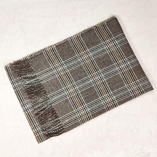 B/H Bufanda Fular Modernas,Mantón de Felpa a Cuadros de otoño e Invierno,Bufanda cálida de Punto-G,Cozy Moda Bufandas Largas de Chal Cálido