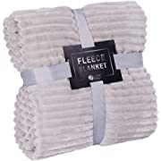 Throw Blanket for Couch - 50x60, Lightweight, Pearl Grey - Soft, Plush, Fluffy, Warm, Cozy - Perfect for Bed, Sofa