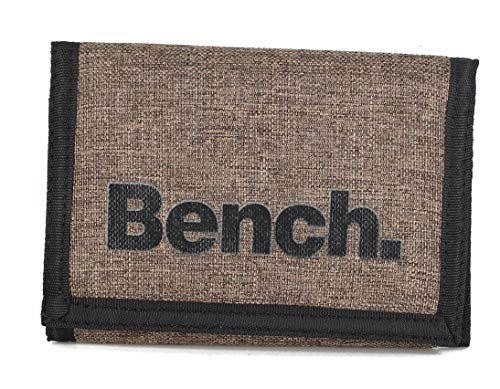 Klettbörse Bench Geldbörse, Geldbeutel, Portemonnaie, Münzbörse Wallet (M2 Braun)