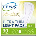 Tena Incontinence Ultra Thin Pads for Women, Light, Regular, 30 count/pack (Pack of 6).