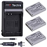 Tectra 3-Pack NB-5L Replacement Battery and...