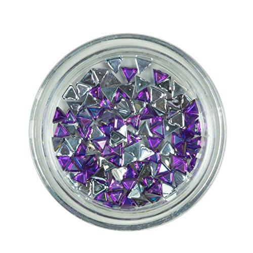 Strass triangle Purple de pierres de strass avec décoration en cristal Rhinestones Nail Art
