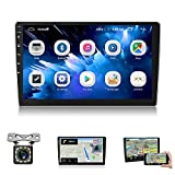 10 inch Car Stereo Android Double Din Bluetooth Car Radio with GPS Navigation Mirror Link WiFi FM Radio HD Touch Screen Steering Wheel Control and Backup Camera