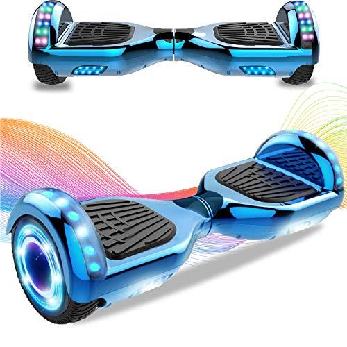 HappyBoard 6,5 Hoverboard mit 350W*2 Motor RGB LED-Leuchten, Bluetooth, mit Fernbedienung und Tasche, Self Balance Scooter, E Board Elektro, Elektroroller