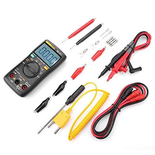 Instrumento preciso CLJ-LJ AN8009 multímetro digital, medidor industrial for Test Kit de mantenimiento eléctrico for AC/DC voltaje, corriente, temperatura, resistencia y continuidad