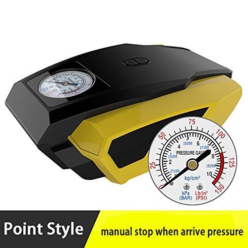 Coche LED Pantalla Digital Compresor de Aire Bomba Inflable portátil 12V Automóvil Neumático Inflador rápido Mini Electric Auto para Trave (Color Name : Pointer)