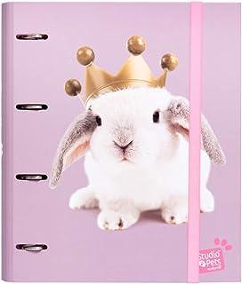 Erik® - Classeur A4 4 Anneaux - Studio Pets Rabbits | Classeur Rigide | Fournitures Scolaires, Fournitures de Bureau