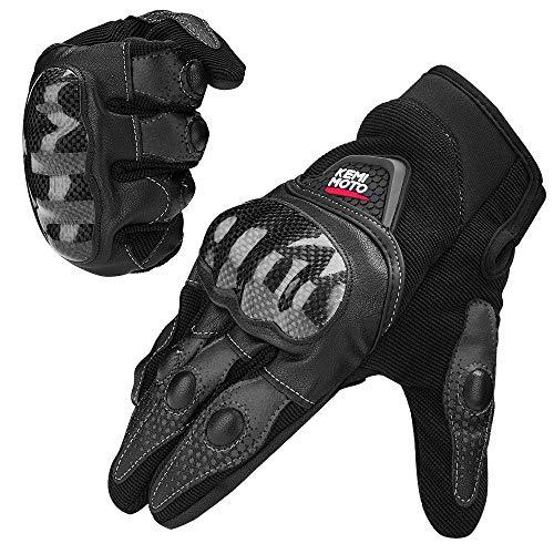 Motorrad Handschuhe Sommer Handschuhe Touchscreen Handschuhe Warm Atmungsaktiv Anti RutschFahrad Handschuhe Sommerhandschuhen Ideal für Motorrad Radfahren Camping Outdoor