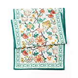 Caminos de mesa Elegantes del estampado de algodón arpillera floral comedor corredor de la tabla o el aparador de la bufanda, de cena de la familia, fiesta de la boda de vacaciones Decoraciones, granj