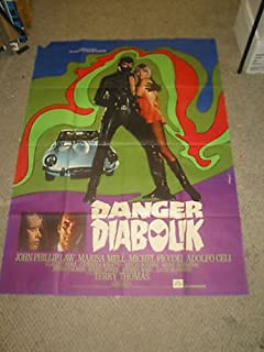DANGER: DIABOLIK/ ORIG. FRENCH 1P MOVIE POSTER (JOHN PHILIP LAW/MARIO BAVA)