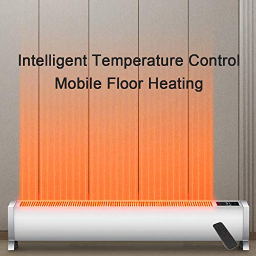 Heizung für zu Hause Niedrigenergie - Konvektor Heizkörper - Elektroheizung mit Thermostat - Fernbedienung - Mobile APP-Steuerung - 24-Stunden-Timer - 3 Heizstufen - Energiesparend - Wasserdicht,White