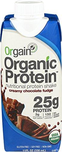 Orgain Organic 25g Protein Shake, Creamy Chocolate Fudge, 11 Ounce, 12 Count
