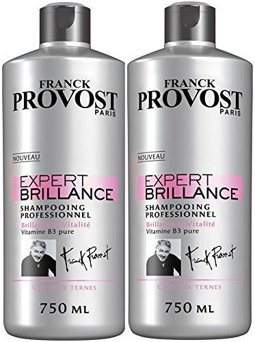 FRANCK PROVOST - Expert Brillance Shampooing Professionnel Brillance & Vitalité - 750 ml - Lot de 2