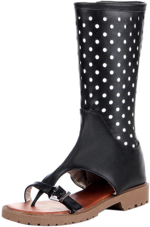 FizaiZifai Women Flat Summer Boots Clip Toe