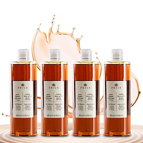 Prija Haut & Haarshampoo mit Ginseng 4x 380 ml Hair & Body Duschgel