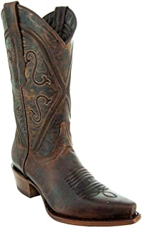 Soto Boots Women Cheyenne Leather Snipped Toe Cowgirl Boots M50041