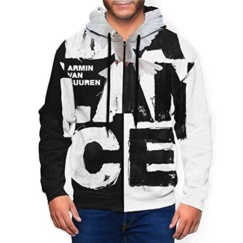Armin Van Buuren Balance Sudadera con capucha para hombre, manga larga, bolsillo con cremallera, ropa deportiva