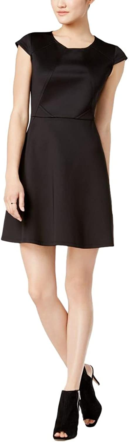 Bar Iii Womens Shiny Stitch Fit & Flare Dress
