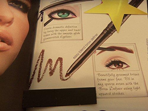 2 x Avon Glimmersticks Brow Definer Dark Brown Eyebrow Pencil *No...
